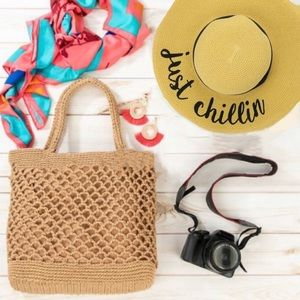 STREET LEVEL FASHION WOVEN CHIC TOTE BAG